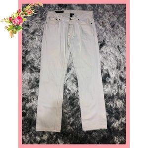 🌸 Club Monaco High Rise Boot Cut White Jeans
